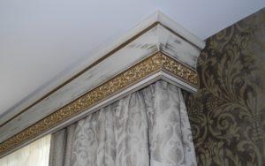 Багетный карниз для штор под потолок фото