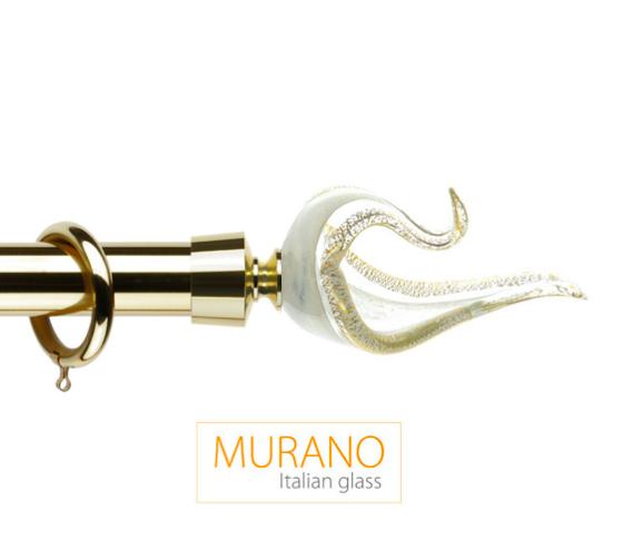 Латунный карниз для штор D30, D20 Мурано Классико наконечник Лебедь цвет золото