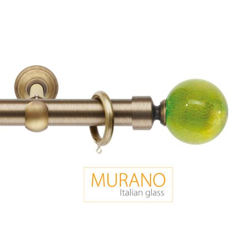 Латунный карниз для штор D30, D20 Мурано Модерн наконечник Шар цвет бронза