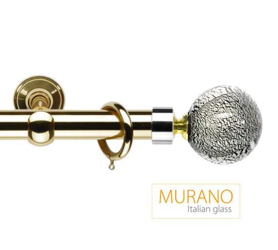 Латунный карниз для штор D30, D20 Мурано Модерн наконечник Шар цвет золото