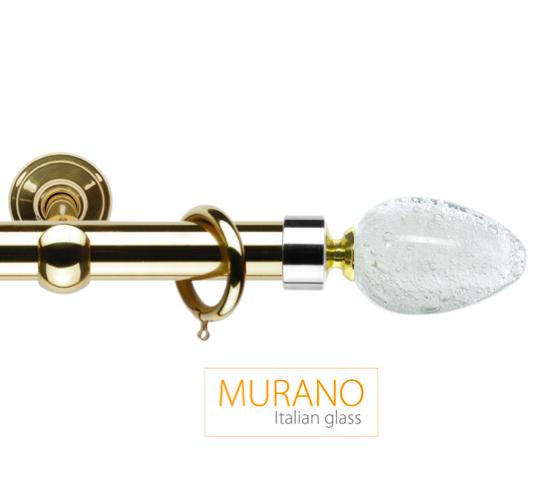 Латунный карниз для штор D30, D20 Мурано Модерн наконечник Овал цвет золото