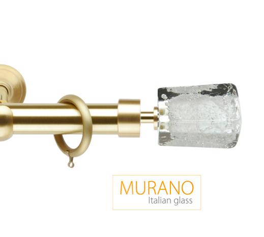 Латунный карниз для штор D30, D20 Мурано Модерн наконечник Башня цвет золото матовое