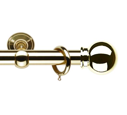 Латунный карниз для штор D30 Империум наконечник Консул цвет золото