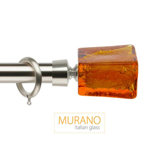 Латунный карниз для штор D30, D20 Мурано Модерн наконечник Башня цвет хром матовый