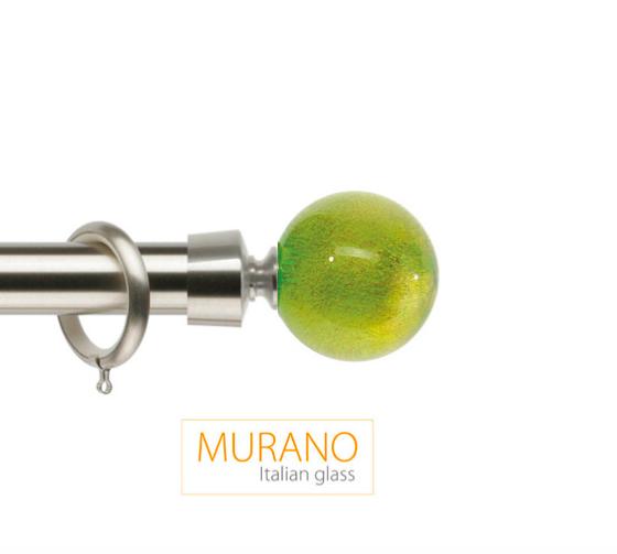 Латунный карниз для штор D30, D20 Мурано Модерн наконечник Шар цвет хром матовой