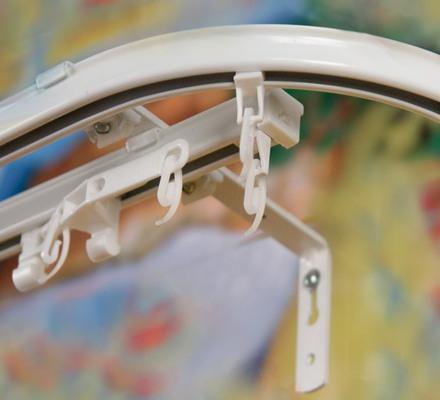 Профильный алюминиевый карниз для штор KSГолландия цвет белый