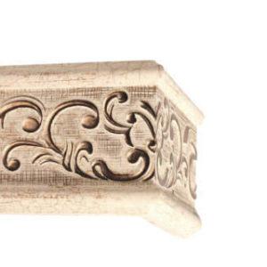 Багетный карниз Прованс слоновая кость фото