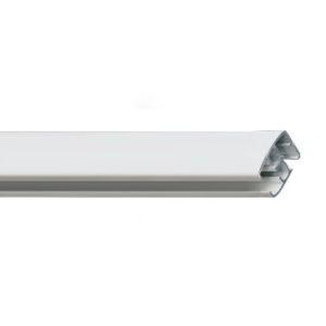 Профильный алюминиевый карниз для тяжелых штор R-2880 с управлением или без управления цвет белый