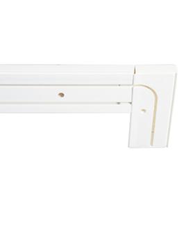 Пластиковый карниз для штор Бремен двухрядный с загибом цвет белый