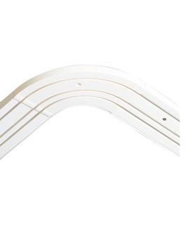Пластиковый карниз для штор Бремен трёхрядный эркер цвет белый