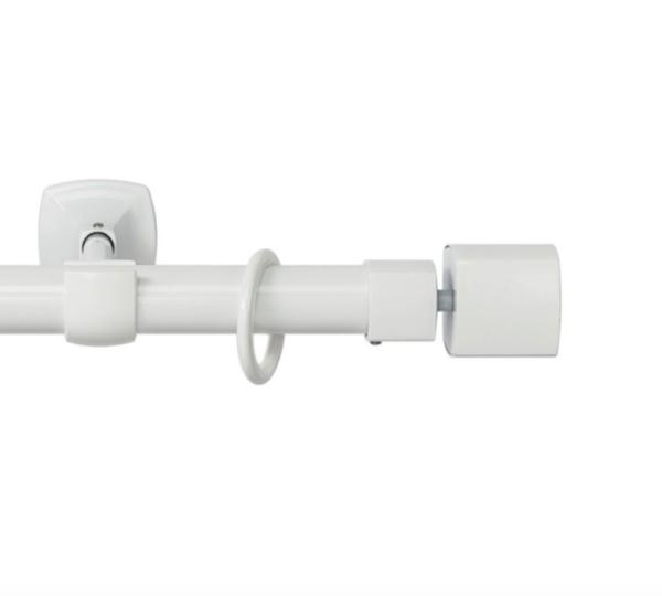 Металлический карниз для штор D25 Гефест наконечник Гефест цвет белый