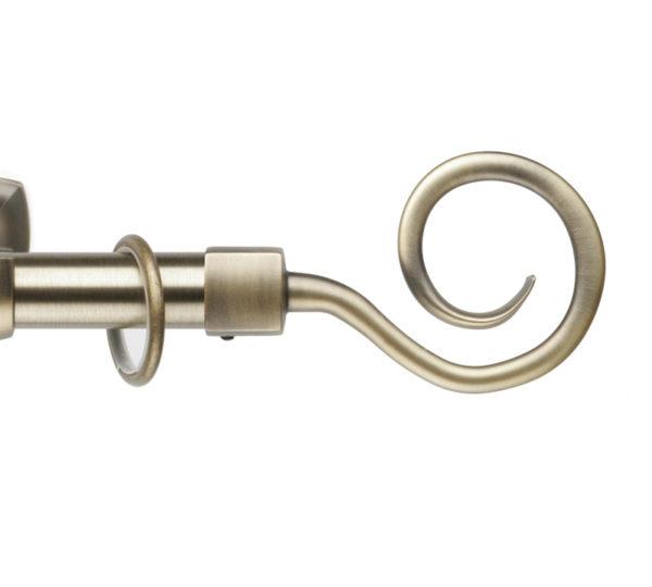 Металлический карниз для штор D25 Гефест наконечник Крюк цвет золото античное