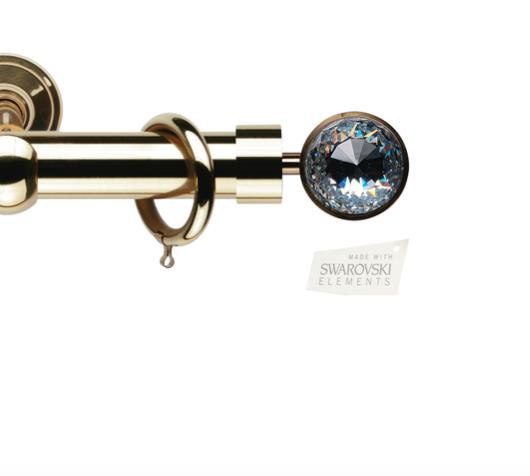 Латунный карниз для штор D30, D20 Кристалло наконечник Кассиопея цвет золото