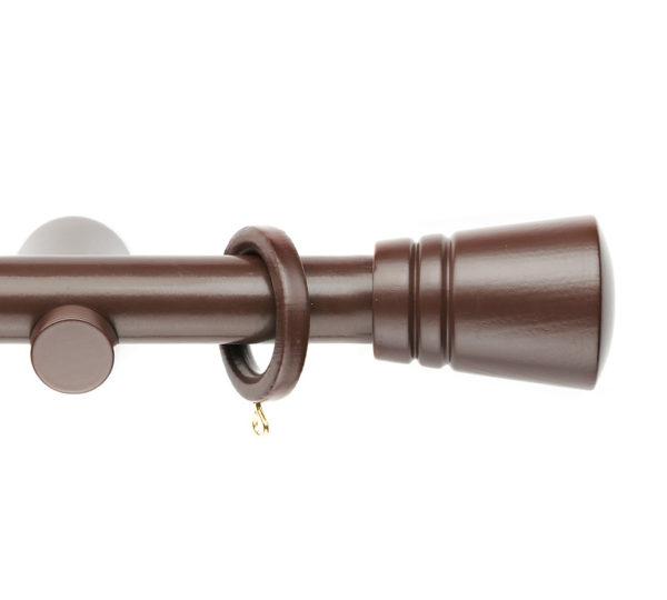 Деревянный карниз для штор D28 Модерн наконечник Модерн цвет коричневый
