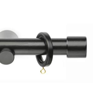 Деревянный карниз для штор D28 Модерн наконечник Кнопка цвет черный