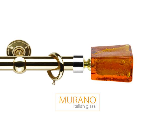 Латунный карниз для штор D30, D20 Мурано Модерн наконечник Башня цвет золото