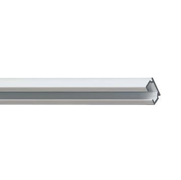 Профильный алюминиевый карниз для тяжелых штор СТ-1100 с управлением или без управления цвет белый