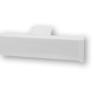 Профильный алюминиевый карниз для штор СТ_2005 цвет белый