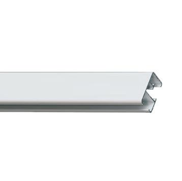 Профильный алюминиевый карниз для тяжелых штор СТ-2500 с управлением или без управления цвет белый