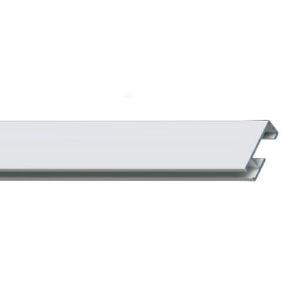 Профильный алюминиевый карниз для штор СТ-412001 (СТ-41) цвет белый