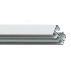 Профильный алюминиевый карниз Театро для тяжелых штор с управлением или без управления цвет белый