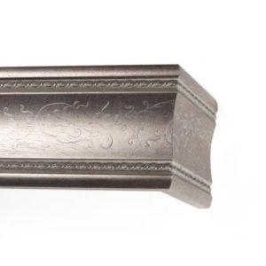 Багетный карниз для штор Флоренция цвет античное серебро