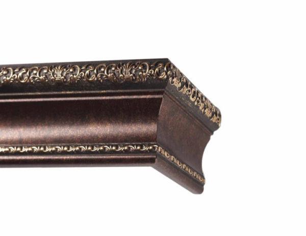 Багетный карниз для штор Ломбардия цвет античная бронза