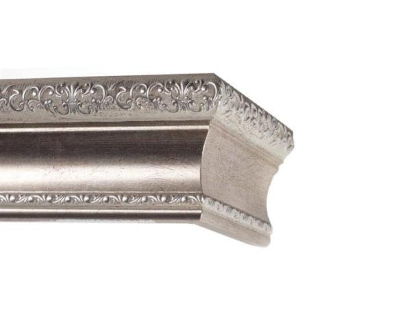Багетный карниз для штор Ломбардия цвет античное серебро