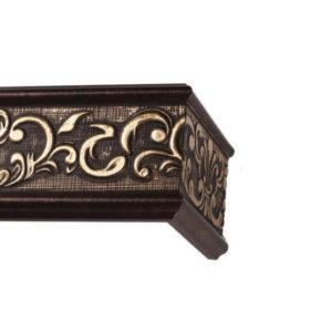 Багетный карниз для штор Прованс цвет античная бронза