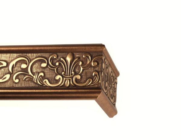 Багетный карниз для штор Прованс цвет античное золото