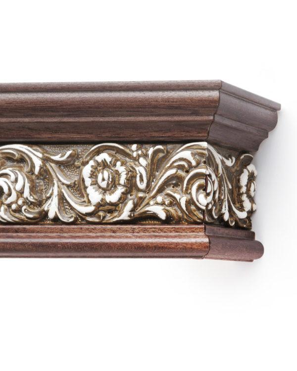 Багетный карниз для штор Испания цвет орех/коричневый античный