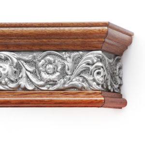 Багетный карниз для штор Испания цвет радика мирто/серебро античное