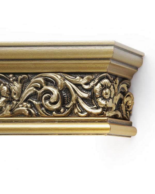 Багетный карниз для штор Испания цвет золотистый/золото античное