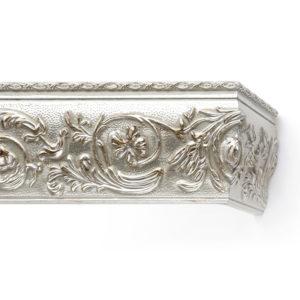 Багетный карниз для штор Прадо цвет античное серебро