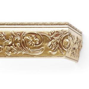 Багетный карниз для штор Прадо цвет античное золото