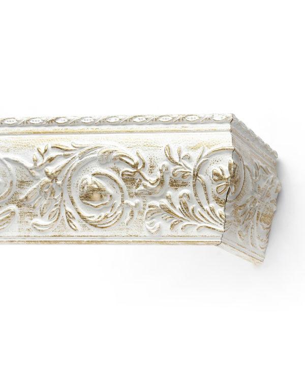 Багетный карниз для штор Прадо цвет бело-золотой