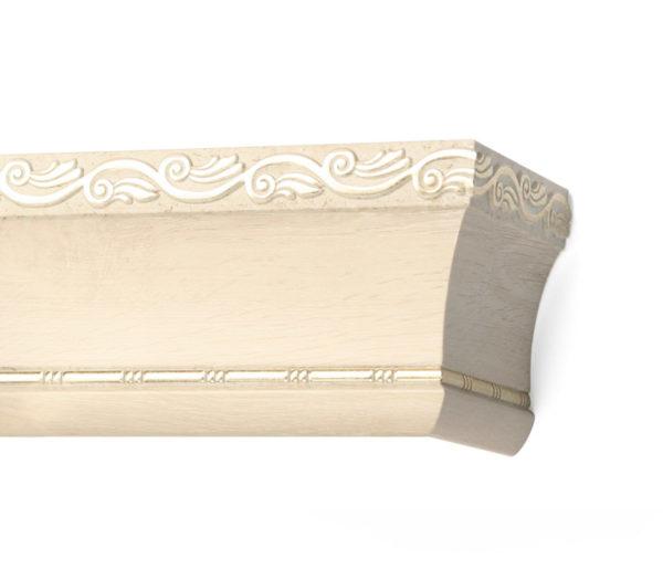 Багетный карниз для штор Родос цвет античный белый