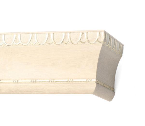 Багетный карниз для штор Спарта цвет античный белый