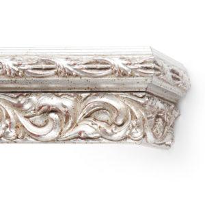 Багетный карниз для штор Версаль цвет серебро античное