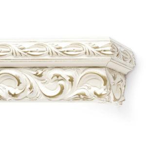 Багетный карниз для штор Версаль цвет золото слоновая кость