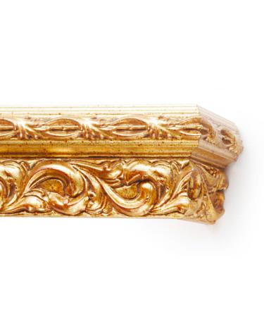 Багетный карниз для штор Версаль цвет золото античное