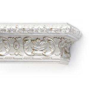 Багетный карниз для штор Эрмитаж цвет серебро античное