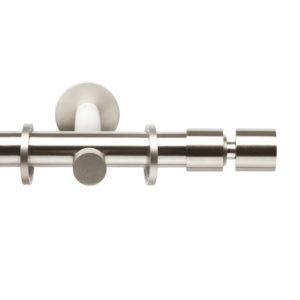 Металлический карниз для штор D20 Техностиль наконечник Цилиндр мини цвет нержавеющая сталь