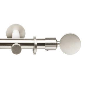 Металлический карниз для штор D20 Техностиль наконечник Диск цвет нержавеющая сталь