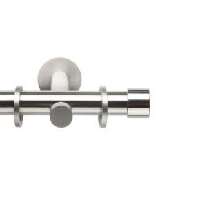 Металлический карниз для штор D20 Техностиль наконечник Цилиндр цвет нержавеющая сталь
