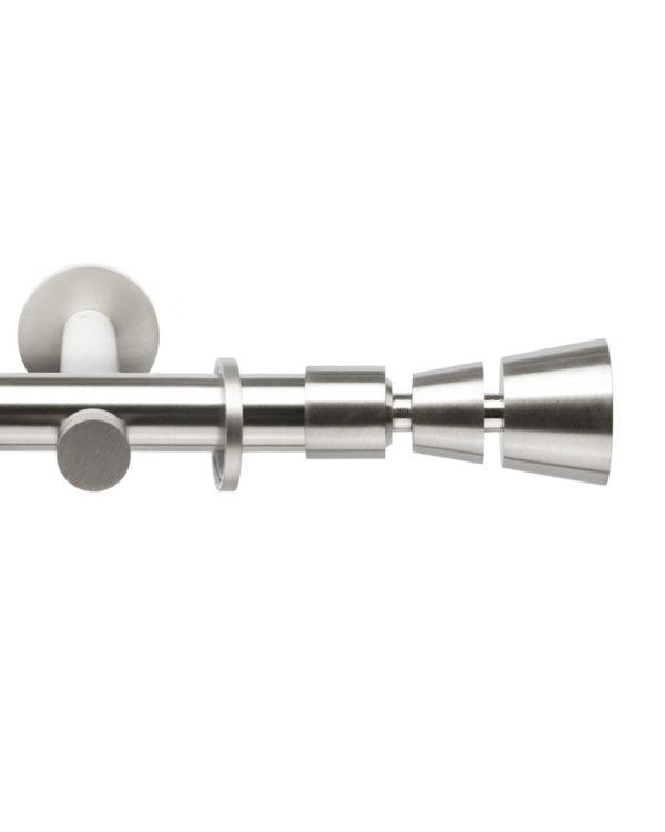 Металлический карниз для штор D20 Техностиль наконечник Конус усеченный цвет нержавеющая сталь