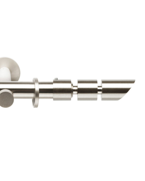 Металлический карниз для штор D20 Техностиль наконечник Усеченный цилиндр цвет нержавеющая сталь