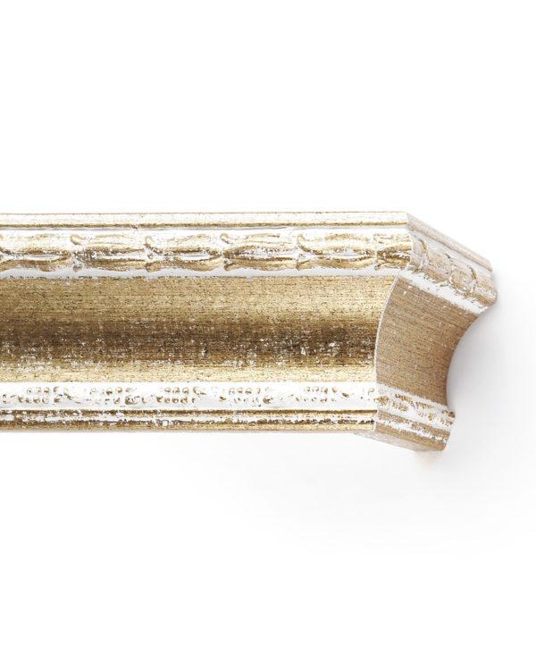 Багетный карниз для штор Уффици цвет бело-золотой