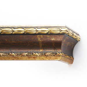 Багетный карниз для штор Уффици цвет бронза античная