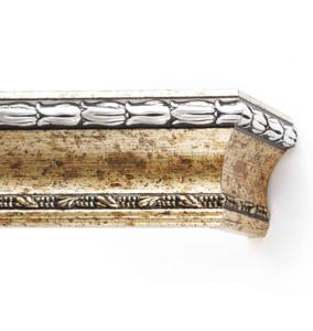 Багетный карниз для штор Уффици цвет серебро античное